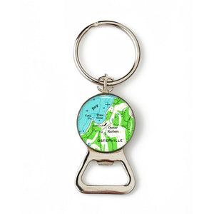 Osterville Combination Bottle Opener with Key Ring