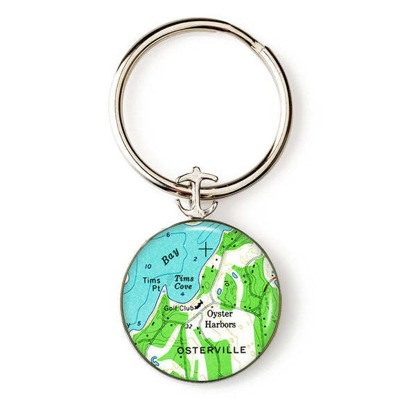 Osterville Anchor Key Ring