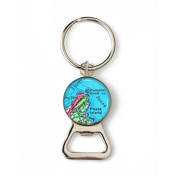 Peaks Island Whaleback Combination Bottle Opener With Key Ring