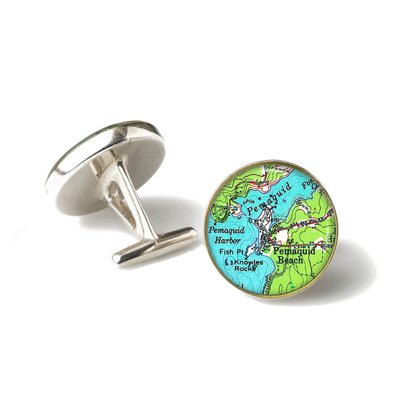 Pemaquid Beach Cufflinks