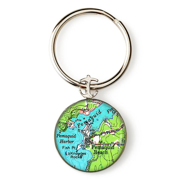 Pemaquid Beach Key Ring
