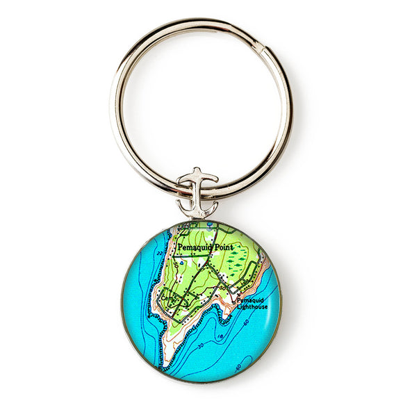 Pemaquid Point Lighthouse 1 Key Ring