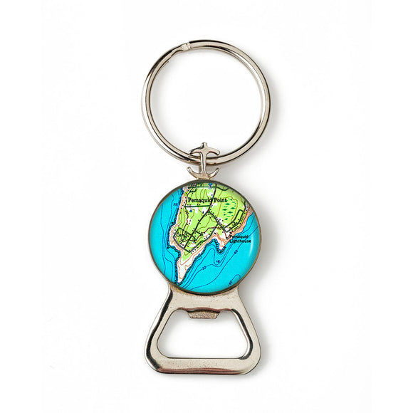 Pemaquid Point Lighthouse 1 Combination Bottle Opener with Key Ring