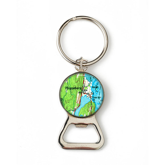 Phippsburg Combination Bottle Opener with Key Ring