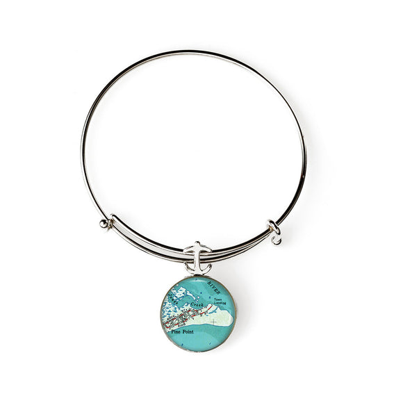 Pine Point 2 Expandable Bracelet with Anchor Charm