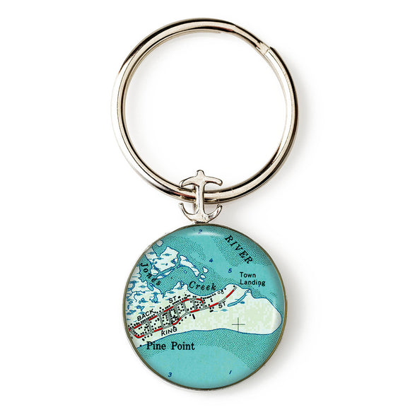 Pine Point 2 Anchor Key Ring