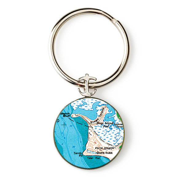Plum Island State Park Anchor Key Ring