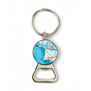 Plum Island State Park Combination Bottle Opener with Key Ring