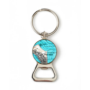Plum Island Combination Bottle Opener with Key Ring