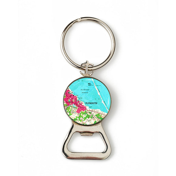 Plymouth Bug Light Pink Combination Bottle Opener with Key Ring