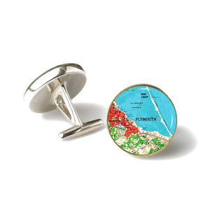 Plymouth Bug Light Red Cufflinks