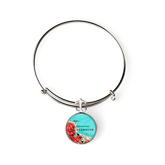 Plymouth Rock Expandable Bracelet with Anchor Charm