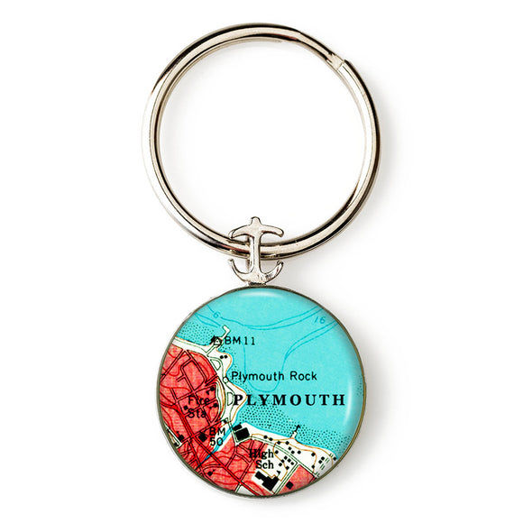 Plymouth Rock Anchor Key Ring