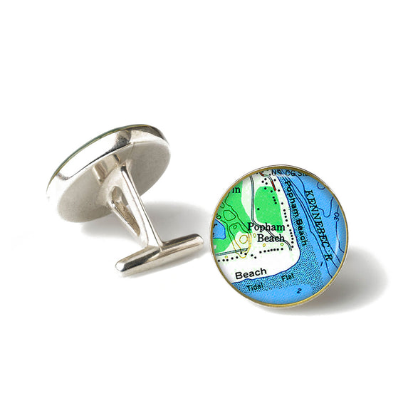 Popham Beach 2 Cufflinks
