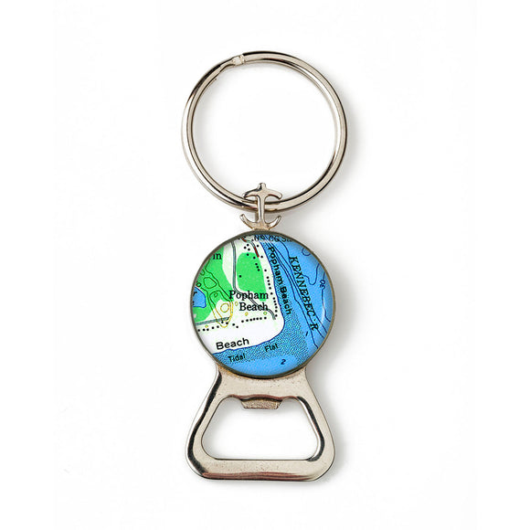 Popham Beach 2 Combination Bottle Opener with Key Ring
