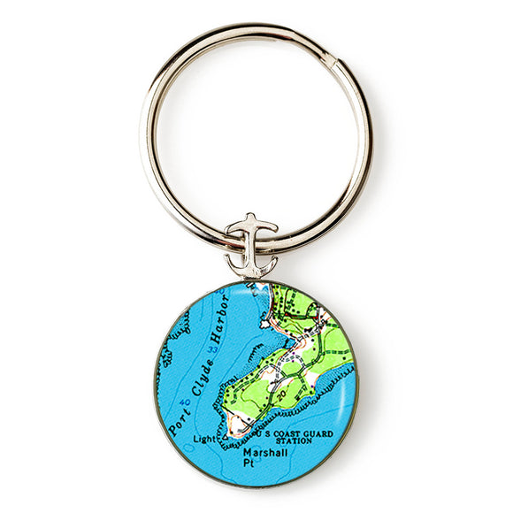 Port Clyde Marshall Point Lighthouse Key Ring
