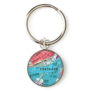 Portland Commercial Street Anchor Key Ring