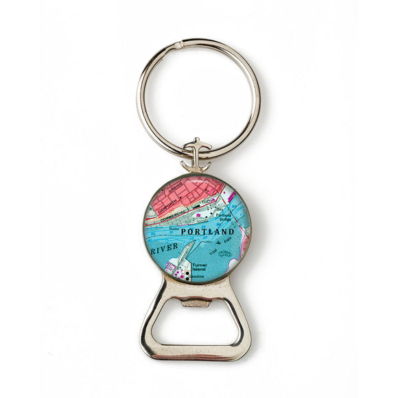 Portland Commercial Street Combination Bottle Opener With Key Ring