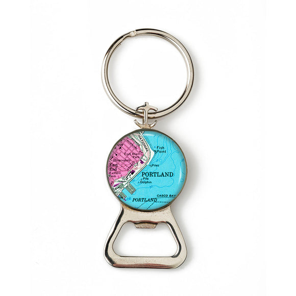 Portland Harbor Fish Point 2 Combination Bottle Opener With Key Ring