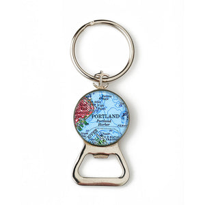 Portland Harbor Combination Bottle Opener With Key Ring