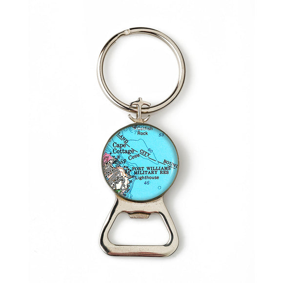 Portland Head Lighthouse Fort Williams Combination Bottle Opener With Key Ring