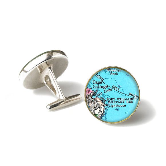 Portland Head Lighthouse Fort Williams Cufflinks