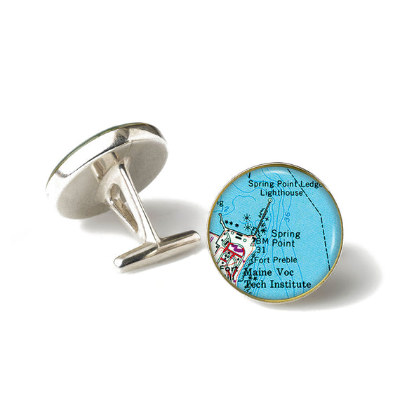 Portland Spring Point Lighthouse Cufflinks