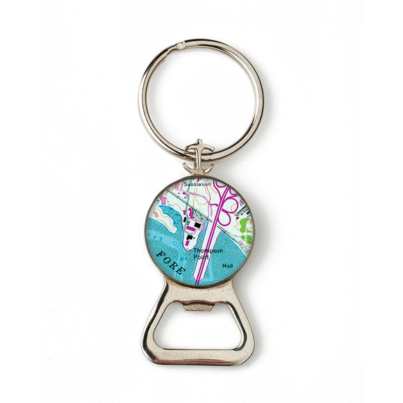 Portland Thompson Point Combination Bottle Opener With Key Ring
