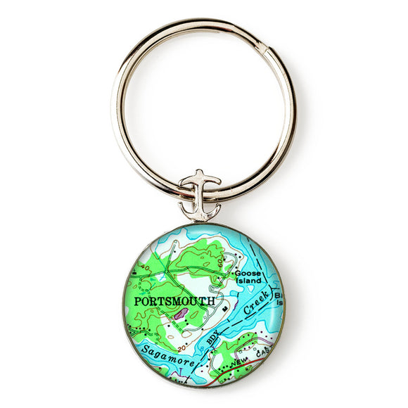 Portsmouth Sagamore Creek Anchor Key Ring