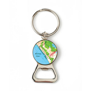 Provincetown Beach Combination Bottle Opener with Key Ring