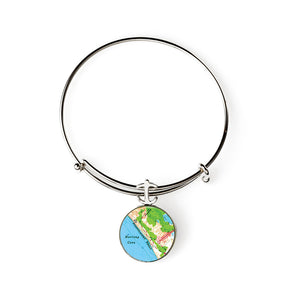 Provincetown Beach Expandable Bracelet with Anchor Charm