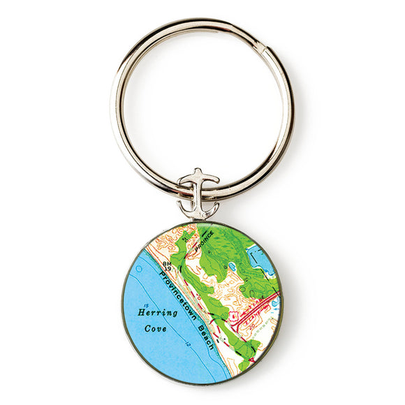 Provincetown Beach Anchor Key Ring