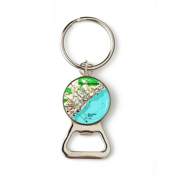 Provincetown Combination Bottle Opener with Key Ring