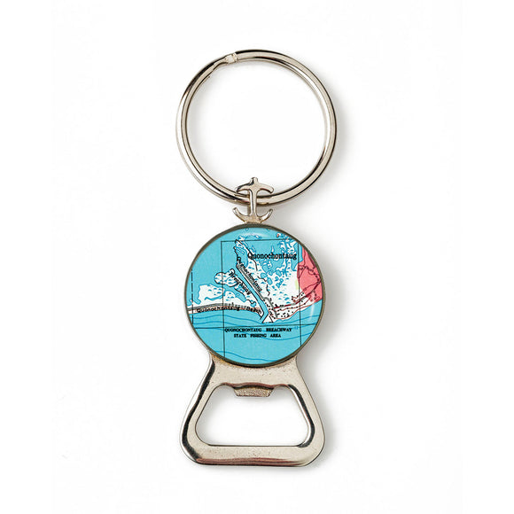 Quonochontaug Beach Combination Bottle Opener With Key Ring