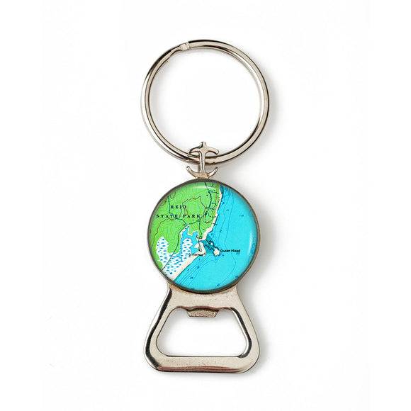 Reid State Park Combination Bottle Opener with Key Ring