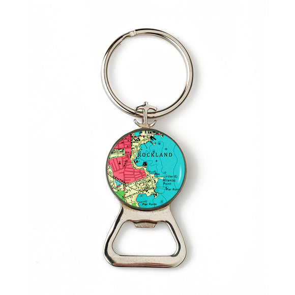 Rockland Harbor 2 Combination Bottle Opener with Key Ring