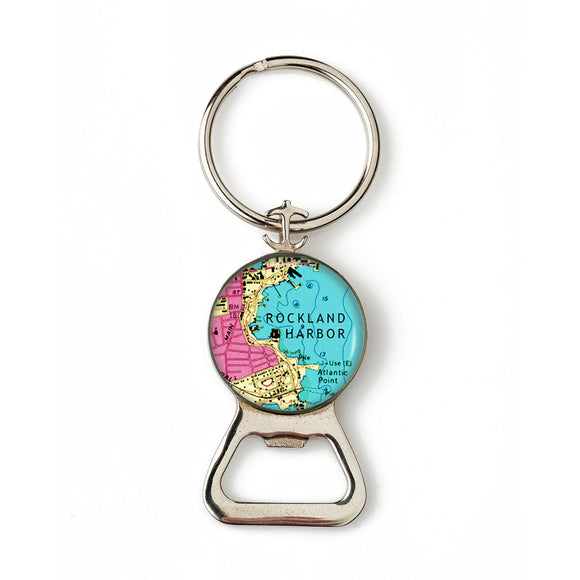 Rockland Harbor 3 Combination Bottle Opener with Key Ring