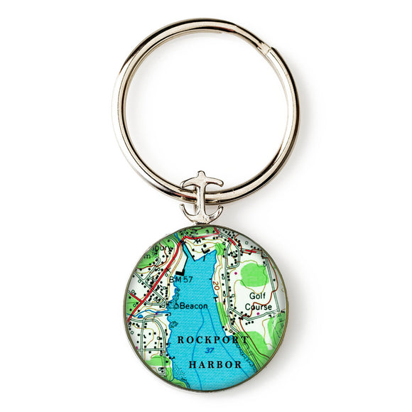 Rockport Harbor Key Ring