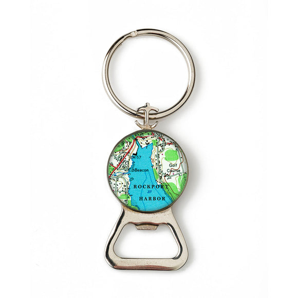 Rockport Harbor Combination Bottle Opener with Key Ring