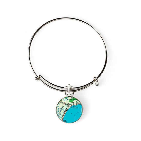 Rye Beach North Expandable Bracelet with Anchor Charm