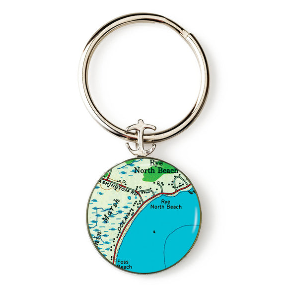 Rye Beach North Anchor Key Ring