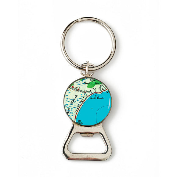 Rye Beach North Anchor Combination Bottle Opener with Key Ring
