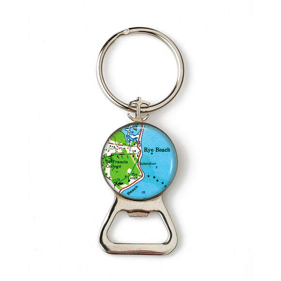 Rye Beach Anchor Combination Bottle Opener with Key Ring