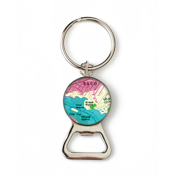 Saco 2 Combination Bottle Opener with Key Ring