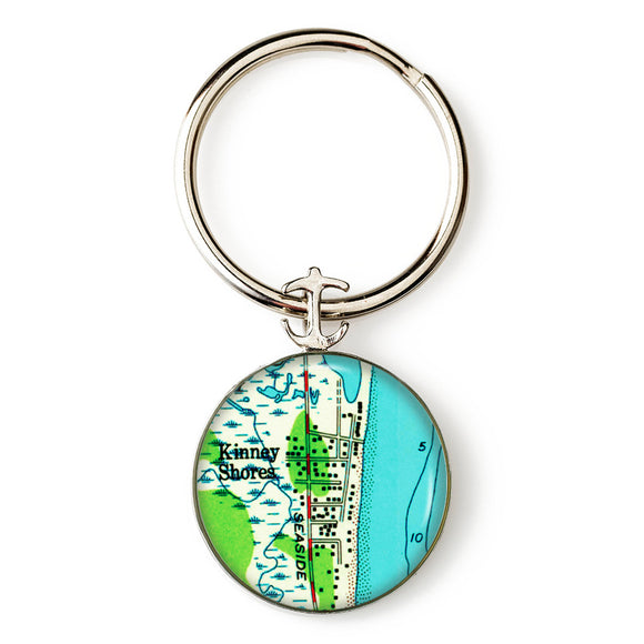 Saco Kinney Shores Anchor Key Ring