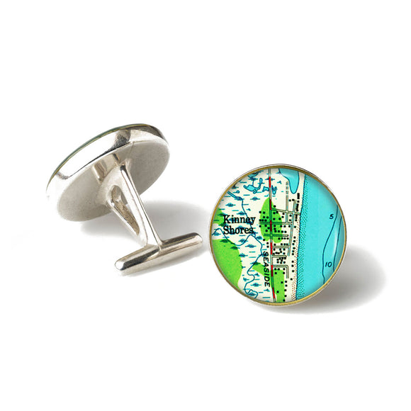 Saco Kinney Shores Anchor Cufflinks
