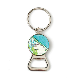 Sagamore Beach Combination Bottle Opener with Key Ring
