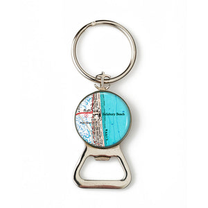 Salisbury Beach Combination Bottle Opener with Key Ring
