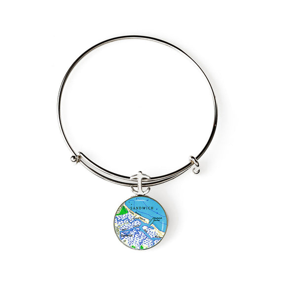 Sandwich Harbor Expandable Bracelet with Anchor Charm