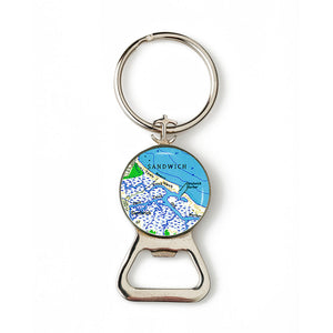 Sandwich Harbor Combination Bottle Opener with Key Ring